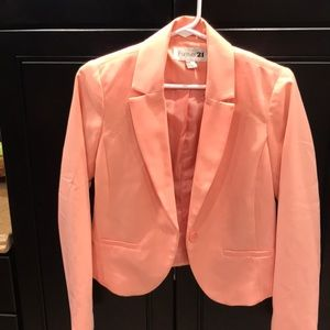 Forever 21 long sleeve Jacket peach color size M
